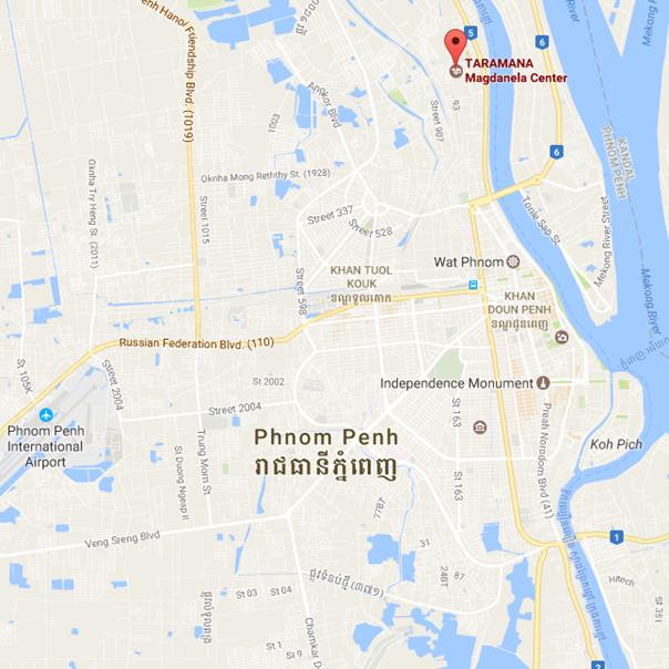Carte Taramana Phnom Penh